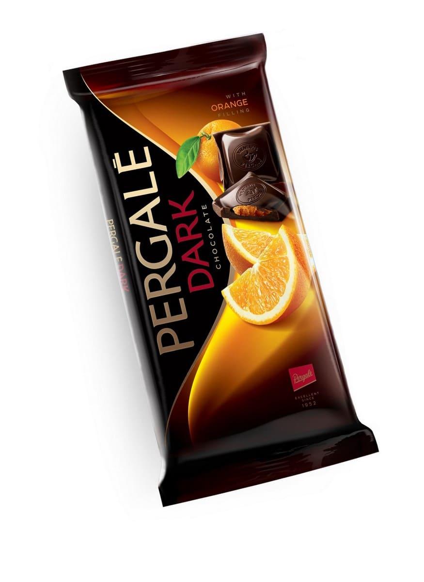 Шоколад Темный с апельсиновой начинкой PERGALE