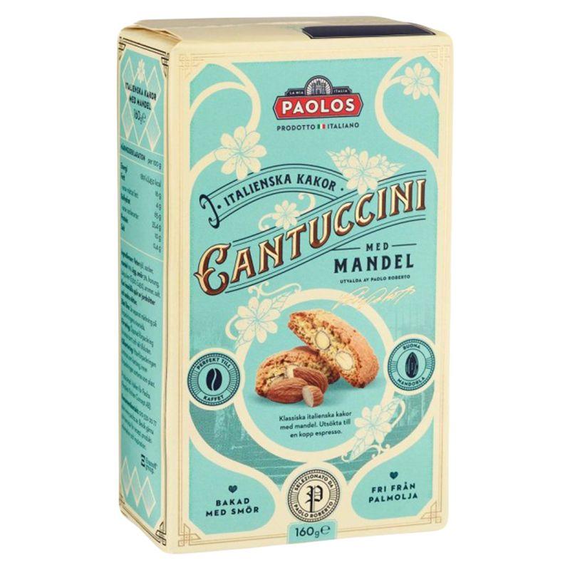 СИ - Сдобное печенье кантуччини с миндалём 19% 160г Paolos