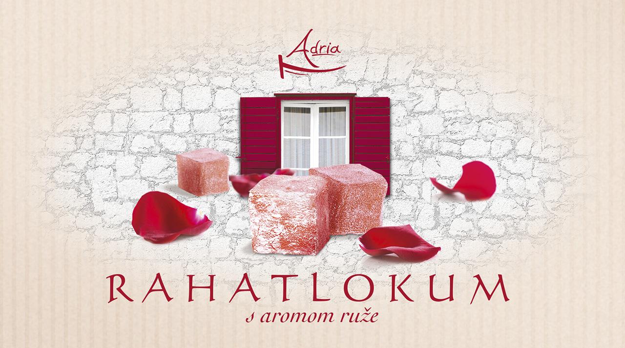 Рахат лукум с ароматом розы Adria Хорватия