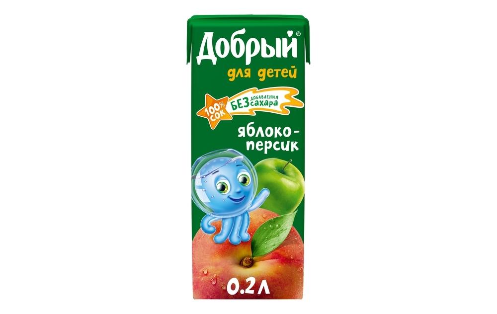 Фото - Добрый Сок яблоко/персик Добрый добрый сок мультифрукт добрый