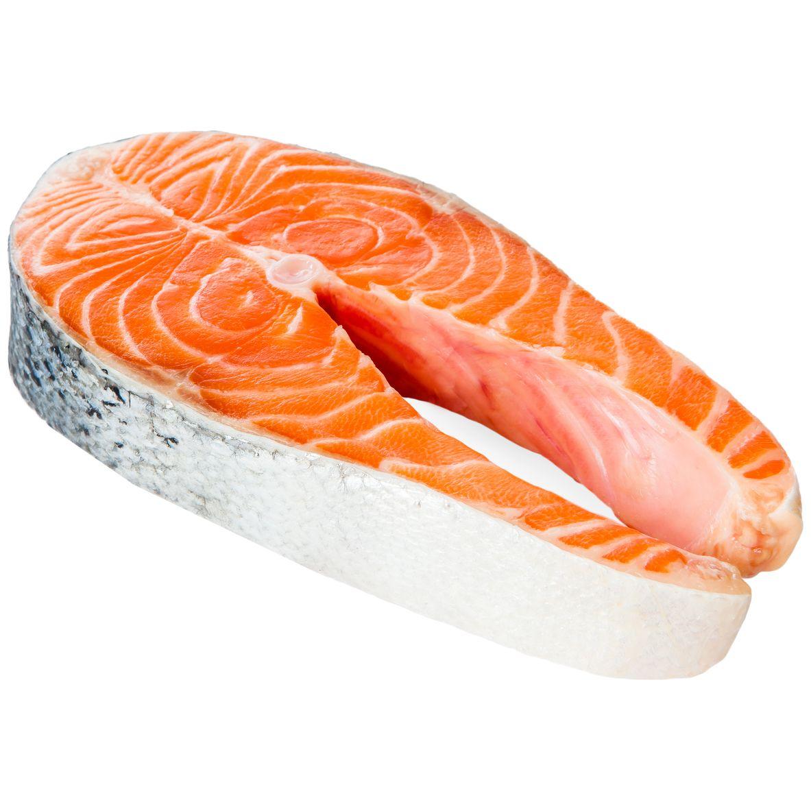 Собственное производство Стейк лосося охл п/ф вес