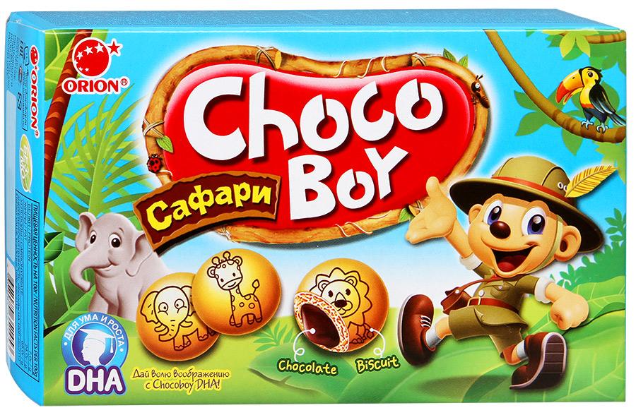 Печенье с глазурью Choco-Boy Safary Orion