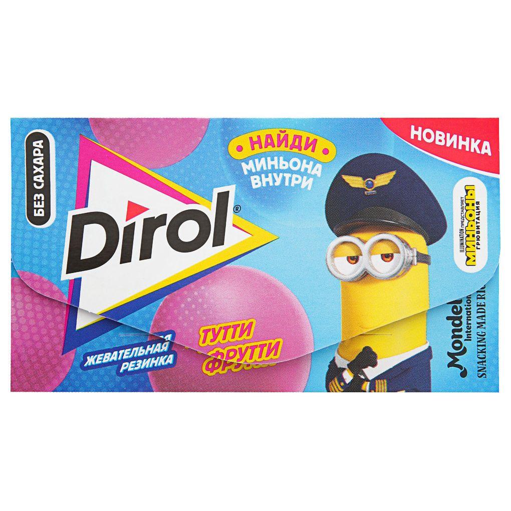 Жевательная резинка в пластинках без сахара со вкусом фруктов 135г Dirol