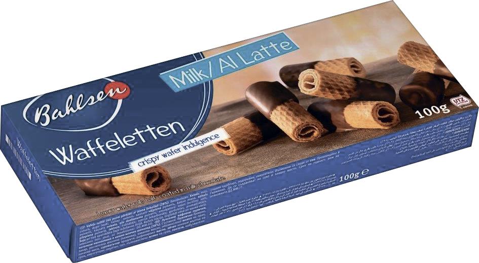 Бальзен Трубочки вафельные Waffeletten в молочном шоколаде BAHLSEN бальзен печенье сендвич pick up с белым шоколадом bahlsen