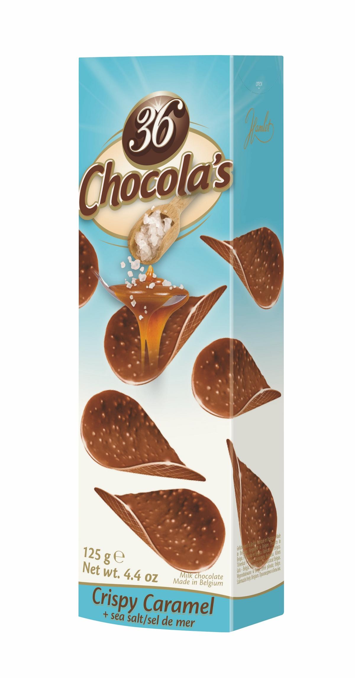 Шоколад хрустящий молочный CHOCOLA`S с морской солью и карамелью