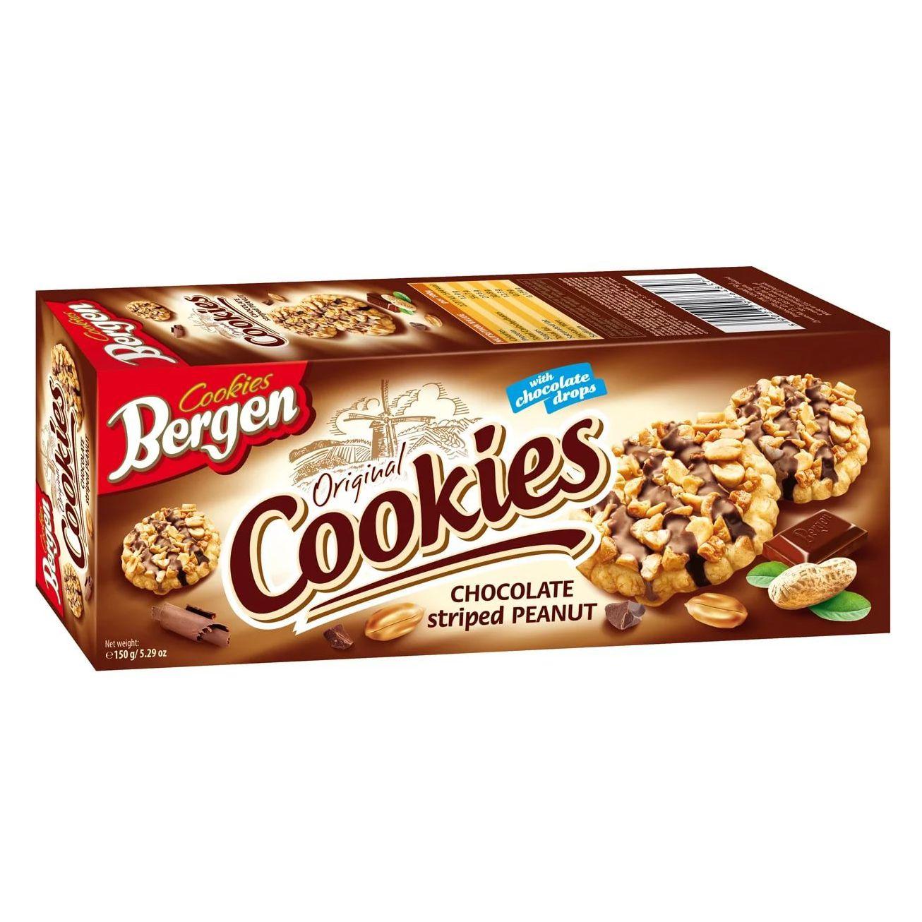 Фото - БЕЗ БРЭНДА Печенье с арахисом Bergen печенье bergen original cookies