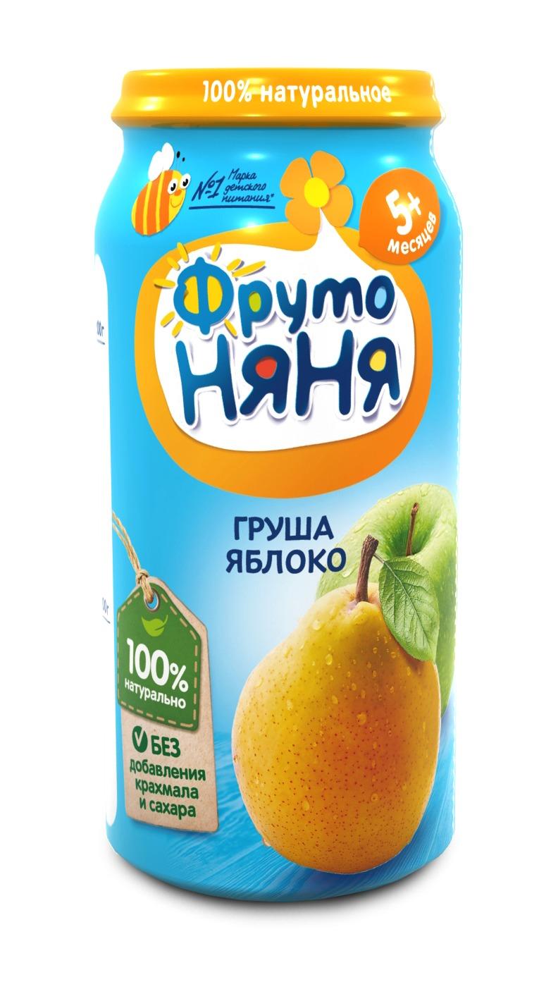 Фруто Няня Пюре яблоко/груша ФрутоНяня пюре фрутоняня organic груша с 4 мес 80 г фрутоняня