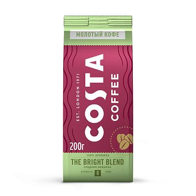 coffee 1889 premium blend 1 kg Costa Coffee Натуральный жареный молотый кофе Bright blend средняя обжарка 200г Costa Coffee