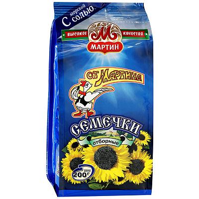 От Мартина Семечки черные с морской солью От Мартина 0.2 кг. недорого