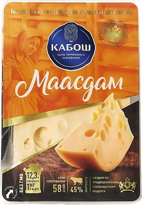Кабош БЗМЖ Сыр Маасдам 45% нарезка Кабош кабош бзмж сыр маасдам 45% нарезка кабош