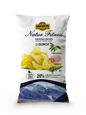 Фото - Без бренда Чипсы картофельные с розовой гималайской солью и киноа Agente лоренц чипсы картофельные naturals классические с солью lorenz