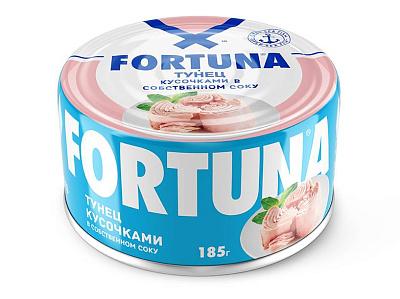 тунец в собственном соку sunfeel 170 г БЕЗ БРЭНДА Тунец кусочками в собственном соку Fortuna