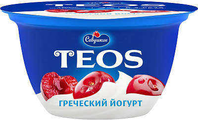 Савушкин БЗМЖ Йогурт греческий с наполнителем вишня 2% 140 г Савушкин недорого