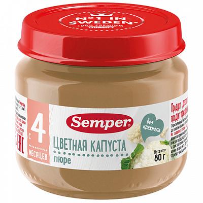 Фото - Semper Пюре с цветной капустой без сахара с 4 месяцев 80 г Semper без брэнда печенье детское банановое naturbalance semper