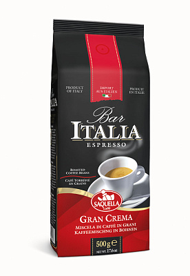 Фото - Саквелла Кофе в зернах BAR ITALIA GRAN CREMA SAQUELLA кофе saquella кофе в зернах espresso gran arabica 250 г