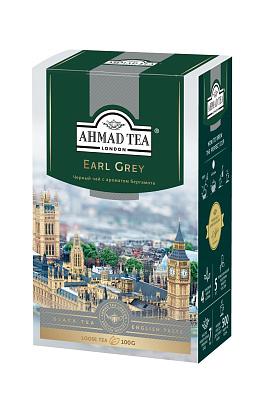 Ahmad Tea Чай черный Earl Grey листовой со вкусом и ароматом бергамота 100г