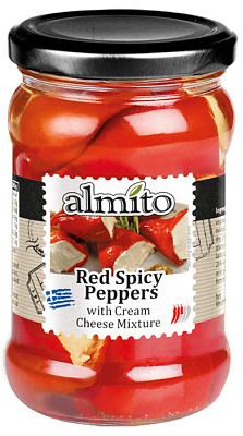 Без бренда Перец острый красный фаршированный сыром Almi перец красный cykoria s a острый 20 г