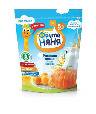 Фруто Няня Каша рисовая молоко/тыква/абрикос ФрутоНяня