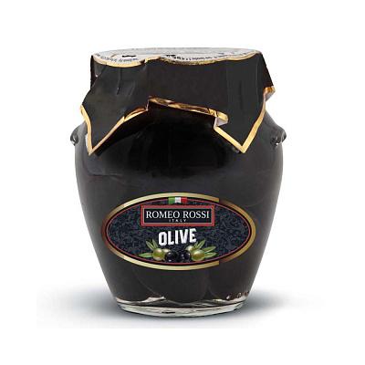 Без бренда Оливки черные с косточкой в рассоле Romeo Rossi недорого