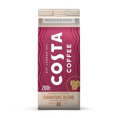 coffee 1889 premium blend 1 kg Costa Coffee Натуральный жареный молотый кофе Signature blend средняя обжарка 200г Costa Coffee