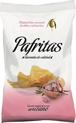 Фото - Без бренда Чипсы картофельные с морской солью и чесноком Pafritas лоренц чипсы картофельные naturals классические с солью lorenz