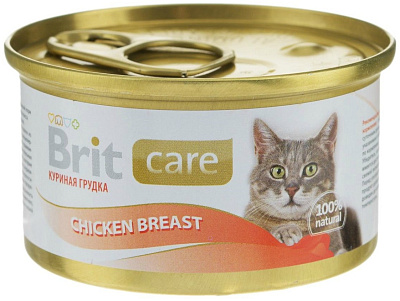 Brit Консервы для кошек куриная грудка Brit Care