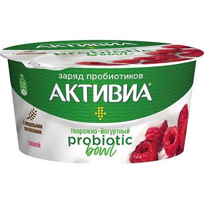 активиа биопродукт творожно йогуртный 4 5% 130 г Активиа Продукт творожно-йогуртный Probiotic Bowl с малиной 3.5% 135 г Активиа
