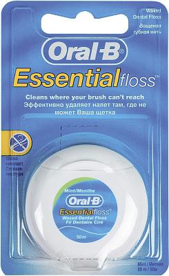 Фото - Без бренда Нить зубная Essential floss мятная OralB зубная нить oral b essential мятная 50m 3014260280772