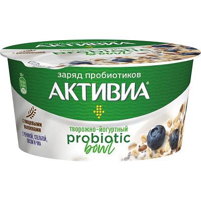 Фото - Активиа Продукт творожно-йогуртный Probiotic Bowl с черникой спельтой овсом и чиа 3.5% 135 г Активиа йогурт питьевой активиа вишня семена чиа 2 1% 260 г