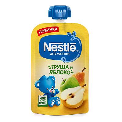 Фото - Nestle Пюре Nestle груша-яблоко, 90 г пюре heinz яблоко груша кабачок 90 г