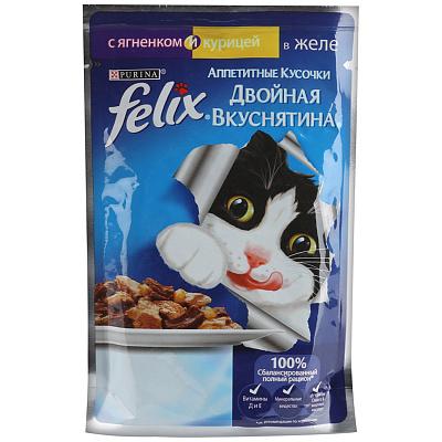 Felix Консервы для кошек ягненок/курица Felix недорого