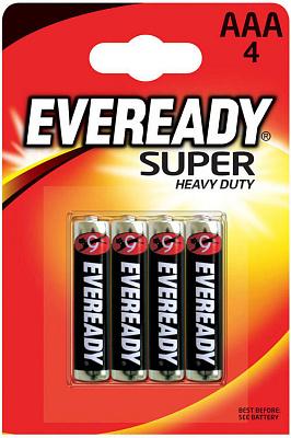 Энерджайзер Батарейка солевая Eveready Super Heavy Duty R03 мизинец 4шт Energizer батарейка aaa energizer eveready r03 1 5v 4 штуки e301156200