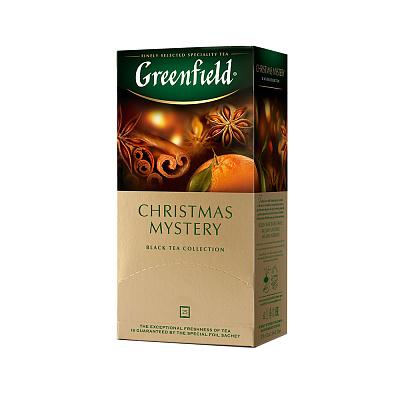 Гринфилд Чай черный Christmas Mystery 25 пакетиков Greenfield brooke bond чай черный brooke bond насыщенный 25 пакетиков
