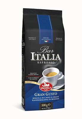 Фото - Саквелла Кофе в зернах BAR ITALIA GRAN GUSTO SAQUELLA кофе saquella кофе в зернах espresso gran arabica 250 г