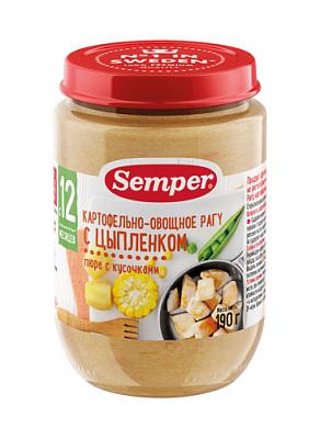 БЕЗ БРЭНДА Пюре Рагу картофель/овощи с цыпленком Semper