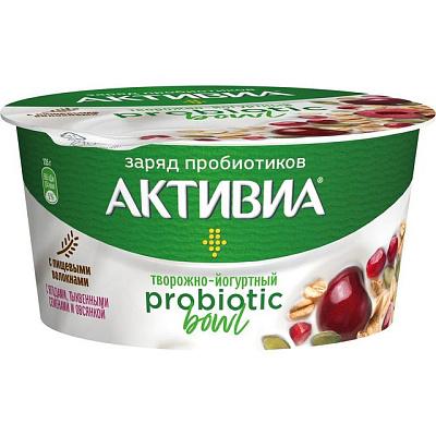активиа биопродукт творожно йогуртный 4 5% 130 г Активиа Продукт творожно-йогуртный Probiotic Bowl с ягодами тыквенными семенами и овсянкой 3,5% 135г Активиа