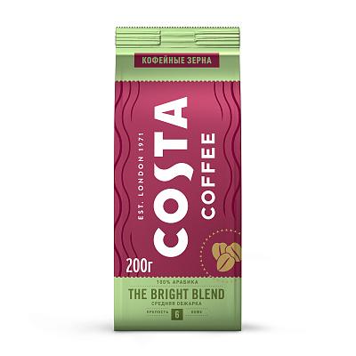coffee 1889 premium blend 1 kg Costa Coffee Натуральный жареный кофе в зернах Bright blend средняя обжарка 200г Costa Coffee