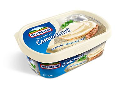 Хохланд БЗМЖ Сыр плавленый сливочный 55% Hochland
