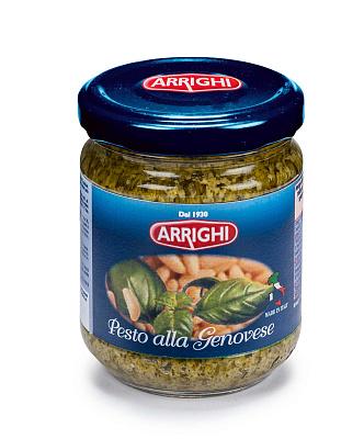 Эррайти Соус песто с базиликом Pesto alla Genovese Arrighi соус barilla песто пеперончино с базиликом и перцем чили 195 г