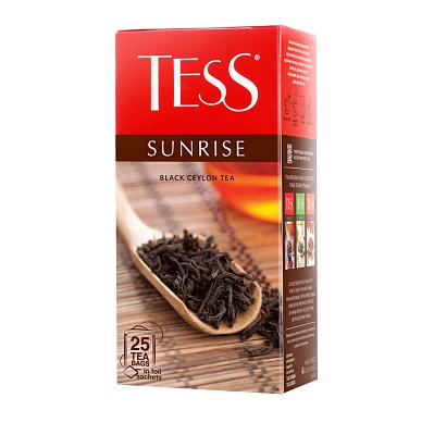 Тесс Чай черный санрайс 25 пакетиков TESS brooke bond чай черный brooke bond насыщенный 25 пакетиков