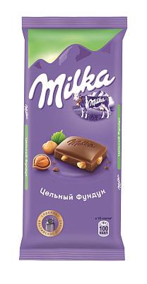 Фото - Милка Шоколад молочный с цельным фундуком Милка шоколад dove 90г молочный с цельным фундуком одинцовская кф