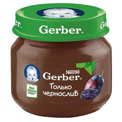 Гербер Пюре чернослив Gerber