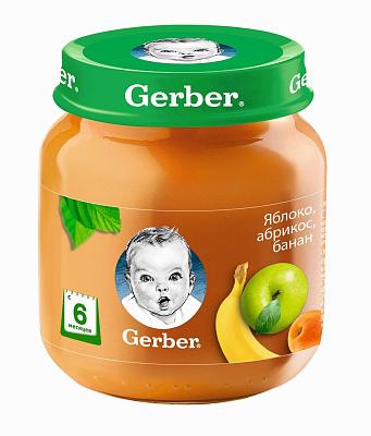 Без бренда Пюре яблоко/абрикос/банан Gerber