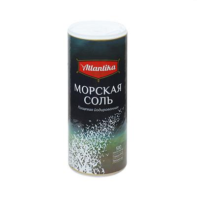setra соль морская мелкая йодированная с пониженным содержанием натрия 500 г Атлантика Соль морская йодированная мелкая 500г пл/туба Атлантика